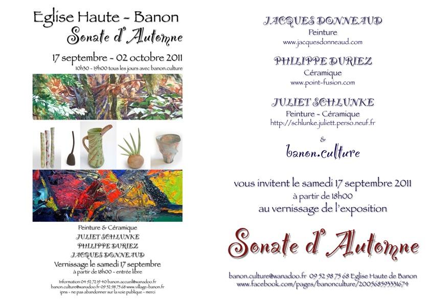 Invitation Au Vernissage Samedi 17 Septembre 2011 Blog De Philippe