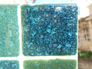 Les beaux turquoise de l'oxyde de cuivre