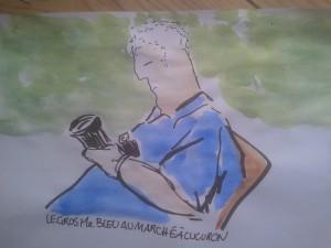 Le gros Monsieur bleu