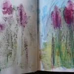 crayon aquarelle sur papier